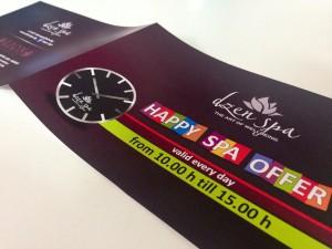 Спа център – печат на брошури