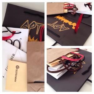 Хартиени торбички с печат на лого и рекламно послание