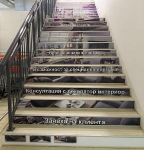 Подови графики – облепяне на стълби