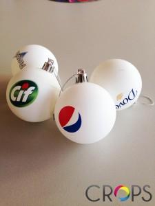 Коледни топки с печат