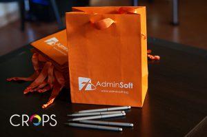 Изработка на хартиени торбички с печат www.crops.bg