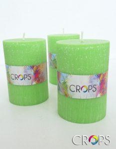 Свещи с рекламно лого www.crops.bg
